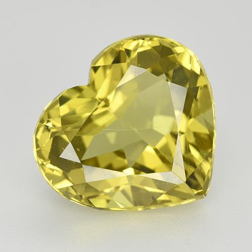 Pineapple Yellow Apatite gemme - 6.1ct Coeur facette (ID: 514427)