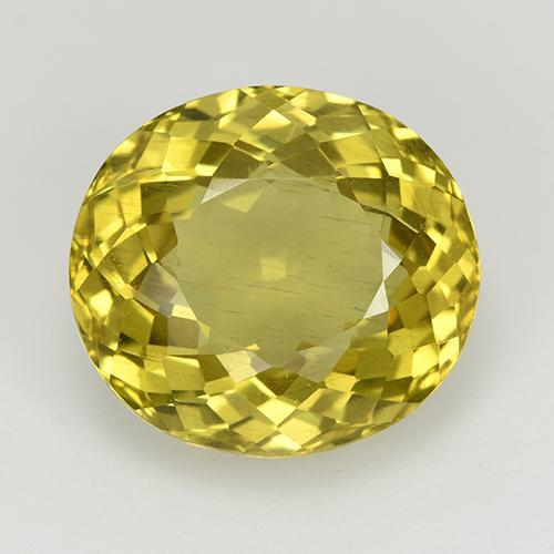 Golden Yellow Apatite Gem - 8.5ct Oval Portuguese-Cut (ID: 514432)