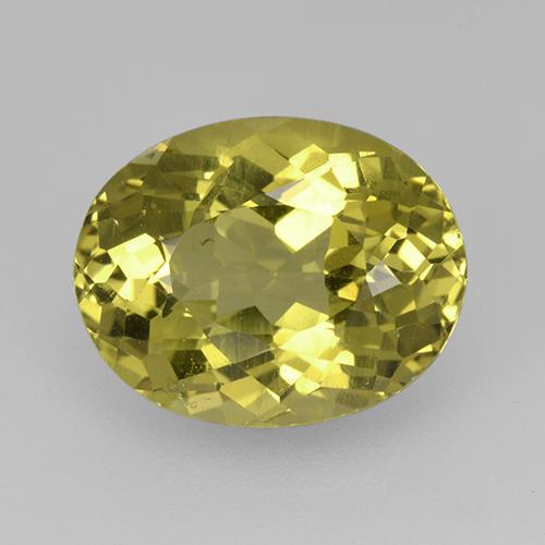 Earthy Yellow Apatite Gem - 4ct Ovale sfaccettato (ID: 514778)