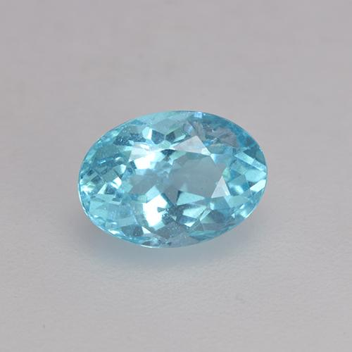 Medium Blue Apatita Gema - 0.6ct Forma ovalada (ID: 532989)