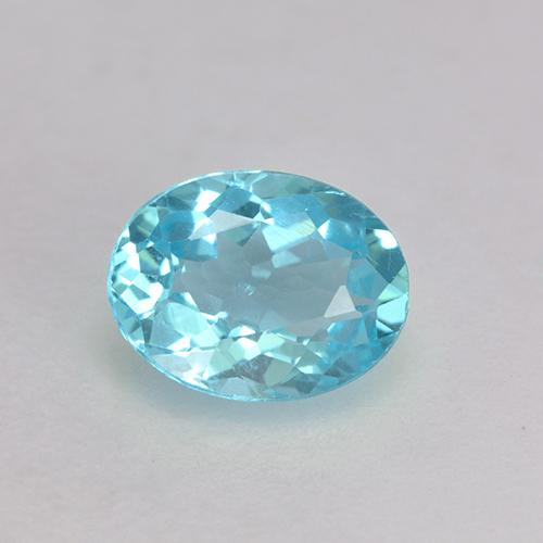 0.7ct Oval Facet Olympic Blue Apatite Gem (ID: 533188)