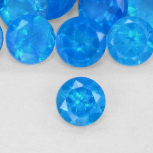 0.07 ct Faceta Redonda Intense Blue Apatita Piedra Preciosa 2.51 mm  (ID del producto: 546441)