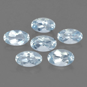 1.2 ct total Natural Light Blue Aquamarine