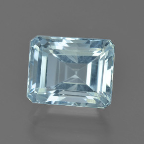 3.18 ct Octagon Facet Light Blue Aquamarine Gemstone 9.51 mm x 7.7 mm (Product ID: 408619)
