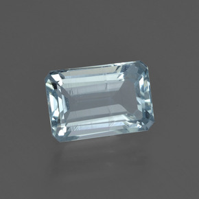 2ct Octagon Facet Sky Blue Aquamarine Gem (ID: 408752)
