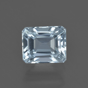 1.9ct Octagon Facet Light Blue Aquamarine Gem (ID: 408754)