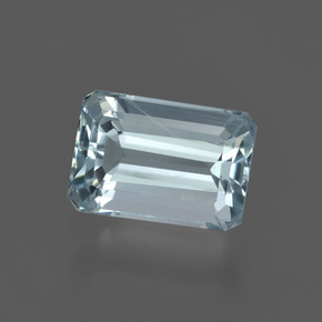 1.9ct Octagon Facet Sky Blue Aquamarine Gem (ID: 408755)
