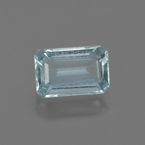 1.7ct Octagon Facet Sky Blue Aquamarine Gem (ID: 408809)