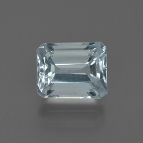2.46 ct Octagon Facet Light Blue Aquamarine Gemstone 8.74 mm x 7 mm (Product ID: 408829)