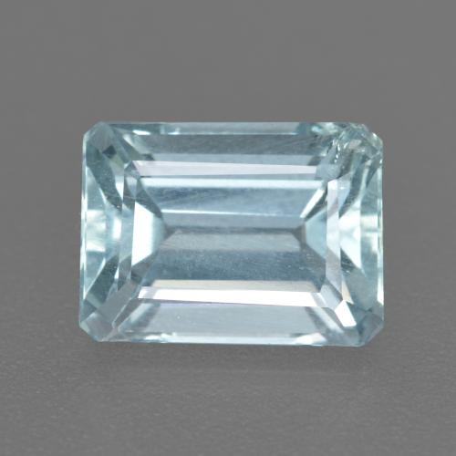2.2ct Octagon Facet Sky Blue Aquamarine Gem (ID: 408833)