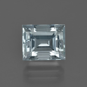 Light Blue Aquamarine Gem - 2.7ct Baguette Facet (ID: 408834)