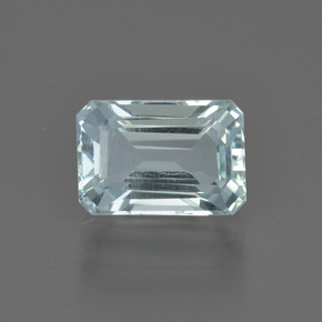 2.12 ct Octagon Facet Light Blue Aquamarine Gemstone 9.18 mm x 6.3 mm (Product ID: 408841)