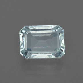 2.77 ct Octagon Facet Light Blue Aquamarine Gemstone 9.87 mm x 7.3 mm (Product ID: 408888)