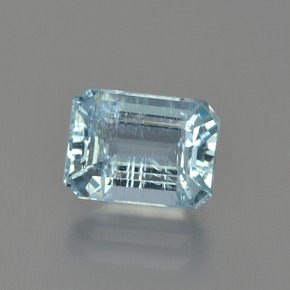 2.6ct Octagon Facet Sky Blue Aquamarine Gem (ID: 408913)