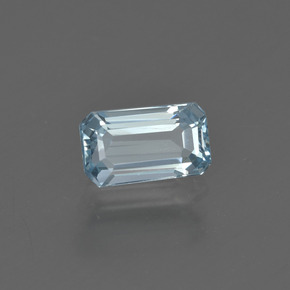 1.1ct Octagon Facet Sky Blue Aquamarine Gem (ID: 409981)