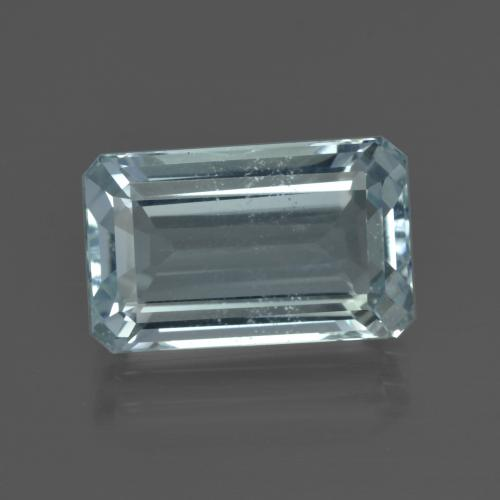 6.57 ct Octagon Facet Light Blue Aquamarine Gemstone 14.08 mm x 8.7 mm (Product ID: 412441)