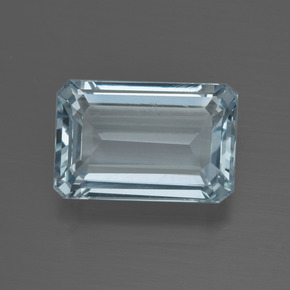 5.30 ct Octagon Facet Light Blue Aquamarine Gemstone 13.33 mm x 8.9 mm (Product ID: 412443)
