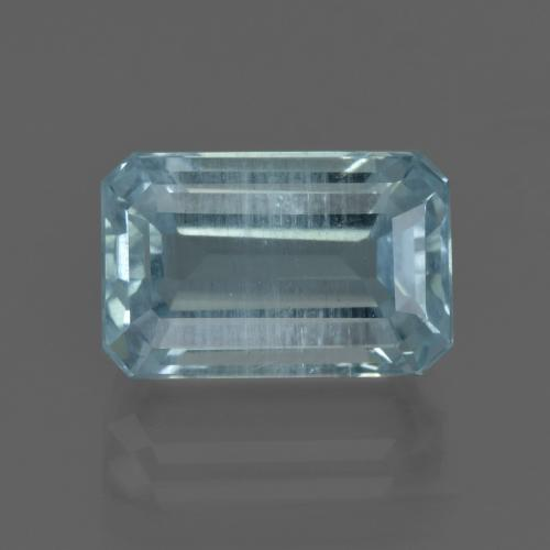 Light Blue Aquamarine Gem - 6ct Octagon Facet (ID: 412445)