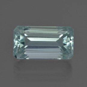 5.56 ct Octagon Facet Light Blue Aquamarine Gemstone 13.79 mm x 7.6 mm (Product ID: 412446)