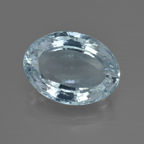 Light Blue Aquamarine Gem - 5.1ct Oval Facet (ID: 412447)