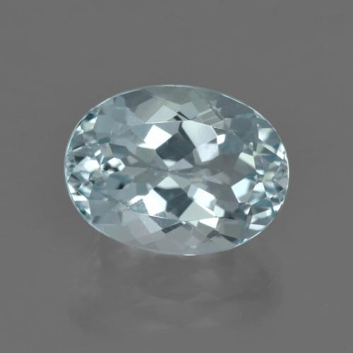 5.02 ct Oval Facet Light Blue Aquamarine Gemstone 12.59 mm x 9.5 mm (Product ID: 412449)