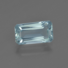 1.7ct Octagon Facet Sky Blue Aquamarine Gem (ID: 412494)