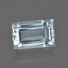 3.45 ct Baguette Facet Light Blue Aquamarine Gemstone 11.13 mm x 7.1 mm (Product ID: 412561)