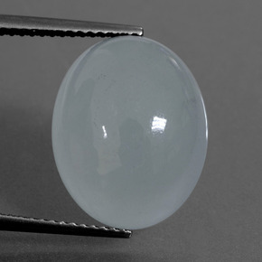 Light Blue Aquamarine Gem - 10.6ct Oval Cabochon (ID: 414376)