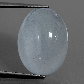 Light Blue-Green Aquamarine Gem - 9.8ct Oval Cabochon (ID: 414377)