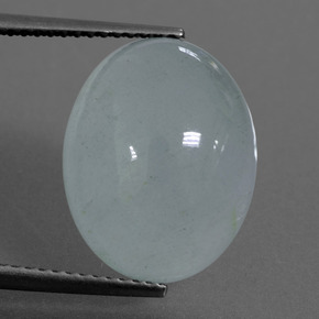 Light Blue Aquamarine Gem - 9.8ct Oval Cabochon (ID: 414378)