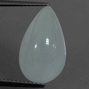 Light Blue Aquamarine Gem - 7.3ct Pear Cabochon (ID: 414493)