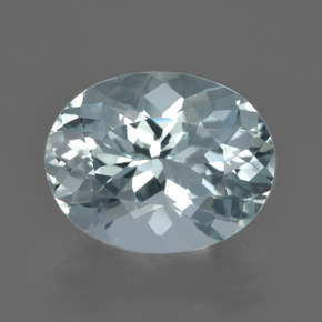 Light Blue Aquamarine Gem - 5.7ct Oval Facet (ID: 415528)