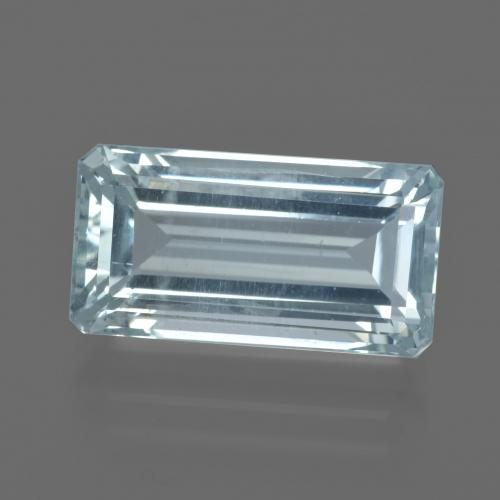 7.65 ct Octagon Facet Light Blue Aquamarine Gemstone 16.03 mm x 8.4 mm (Product ID: 415530)