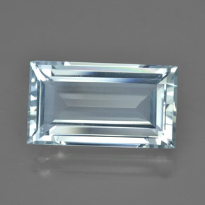 7.76 ct Baguette Facet Light Blue Aquamarine Gemstone 16.99 mm x 9.6 mm (Product ID: 415532)