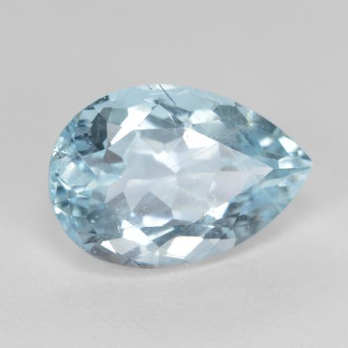 Light Blue Aquamarine Gem - 4.8ct Pear Facet (ID: 415761)