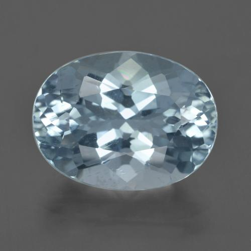 6.08 ct Oval Facet Sky Blue Aquamarine Gemstone 10.65 mm x 14.1 mm (Product ID: 415762)