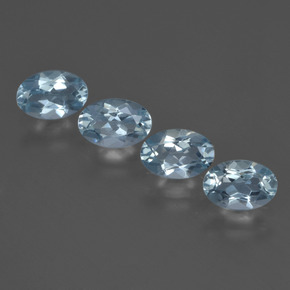 Sky Blue Aquamarine Gem - 0.4ct Oval Facet (ID: 418740)
