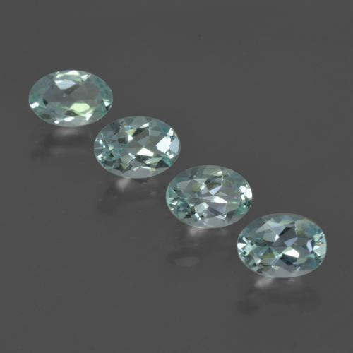 Light Green Blue Aquamarine Gem - 0.6ct Oval Facet (ID: 418860)