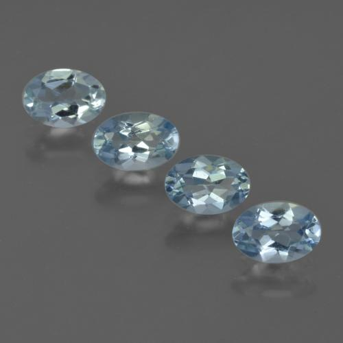 Swiss Blue Aquamarine Gem - 0.4ct Oval Facet (ID: 418861)