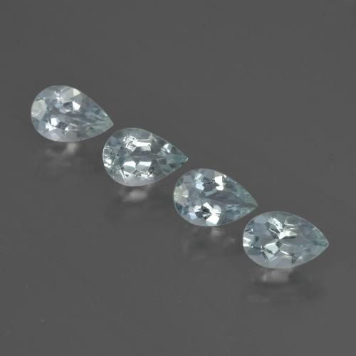 Light Blue Aquamarine Gem - 0.4ct Pear Facet (ID: 419001)