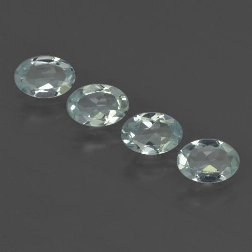 Light Green Blue Aquamarine Gem - 0.4ct Oval Facet (ID: 419060)