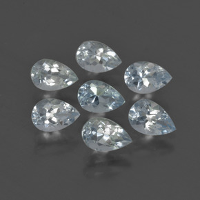 0.4ct Pear Facet Light Blue Aquamarine Gem (ID: 419068)