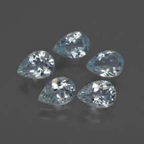 0.6ct Pear Facet Light Blue Aquamarine Gem (ID: 419352)