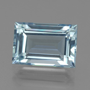 5.06 ct Baguette Facet Light Blue Aquamarine Gemstone 12.36 mm x 8.4 mm (Product ID: 438220)