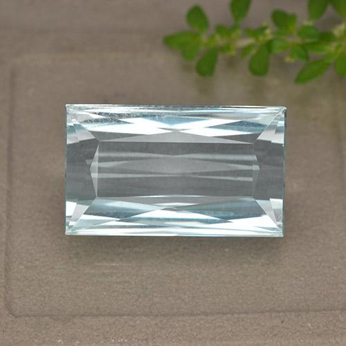 11.9ct Baguette / Scissor Cut Light Blue Aquamarine Gem (ID: 450372)