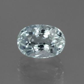 Greenish Blue Aquamarine Gem - 3.1ct Oval Facet (ID: 450895)