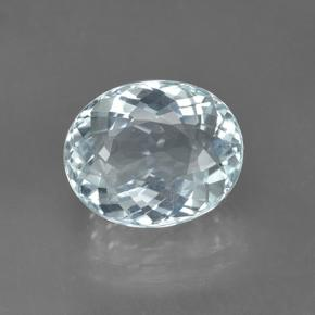 Greenish Blue Aquamarine Gem - 3.3ct Oval Portuguese-Cut (ID: 450901)