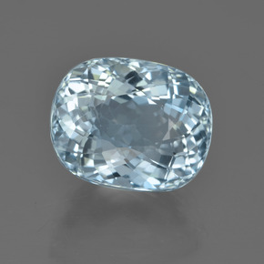 Light Blue Aquamarine Gem - 5.9ct Oval Portuguese-Cut (ID: 453035)