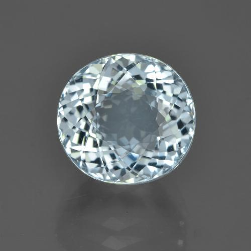 5.18 ct Oval Portuguese-Cut Light Blue Aquamarine Gemstone 10.42 mm x 9.8 mm (Product ID: 453037)