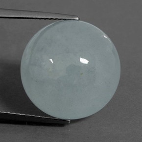 thumb image of 18.1ct Round Cabochon Light Blue Aquamarine (ID: 458800)